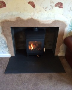 Burley Hollywell Wood Burning Stove Installation