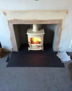 Multi Fuel Stanley Oisin Cream Stove